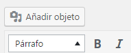 Botón de añadir objeto