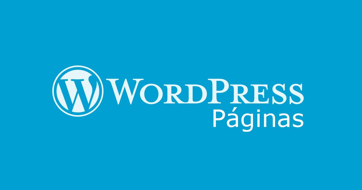 Wordpress - Paginas