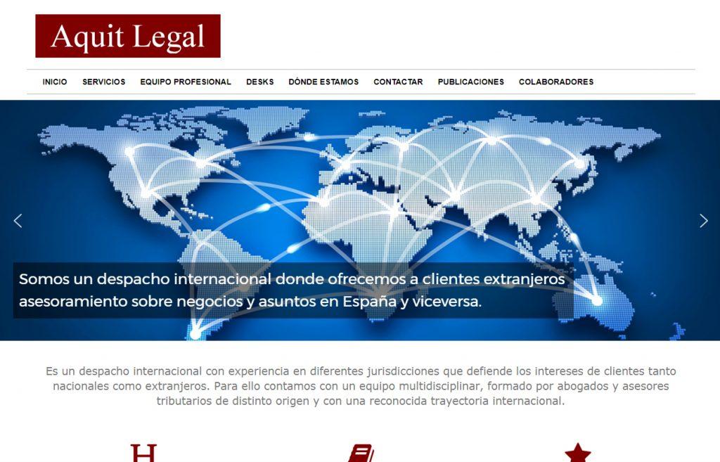 Diseño web Aquit Legal