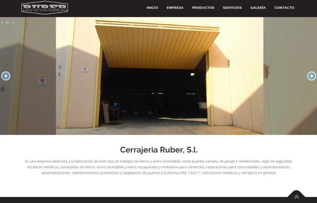 Diseño Web Cerrajeria Ruber